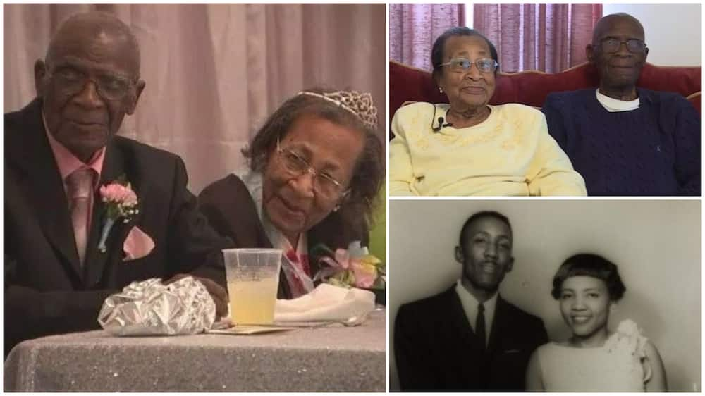 Aged couple celebrate being married for 82 years