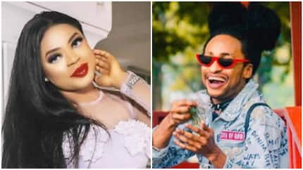 My baby always slaying - Bobrisky says as he gushes about Denrele (photo)