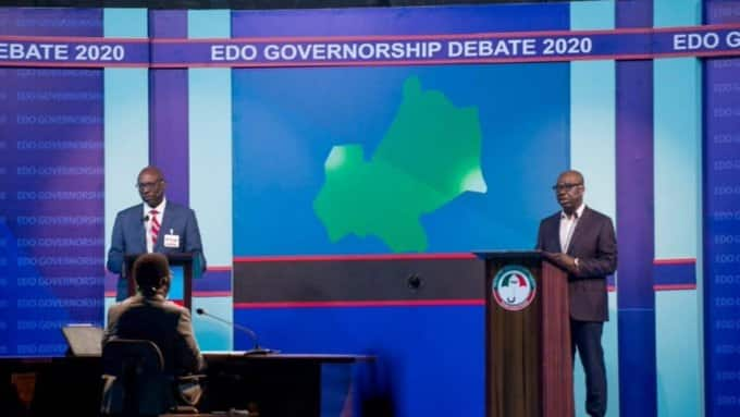 Edo governorship debate: Polls show Governor Obaseki defeat Ize-Iyamu