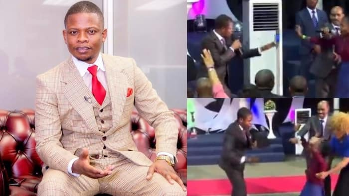 See how this popular pastor described a church member's apartment, mentioned everything inside without being there; congregants cheer on (video)