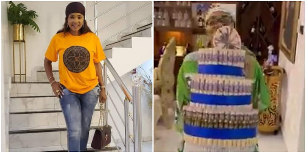 Actress Iyabo Ojo receives special new year gift from her friend (video)