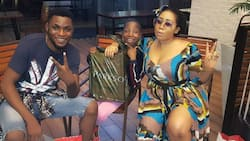 Famous Nollywood actress seen with kid comedian Emmanuella and Mark Angel in Malaysia (photos)