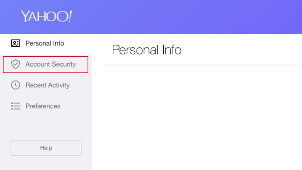 change password in yahoo mail on pc