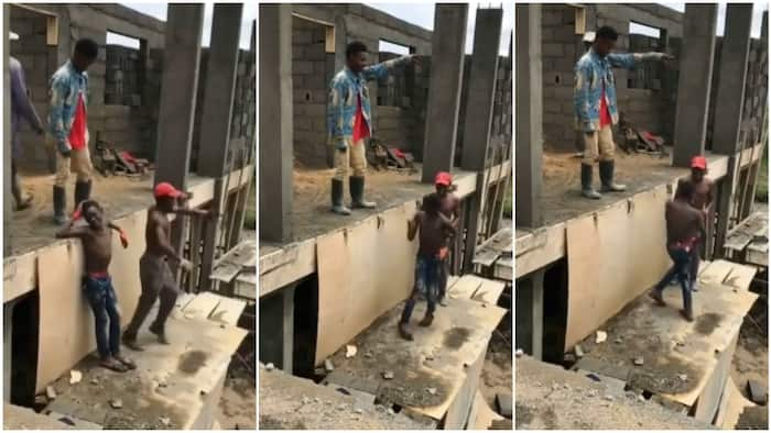 Bricklayers at construction site 'pause work', dance to Ko Por Ke with great legwork, video stirs reactions