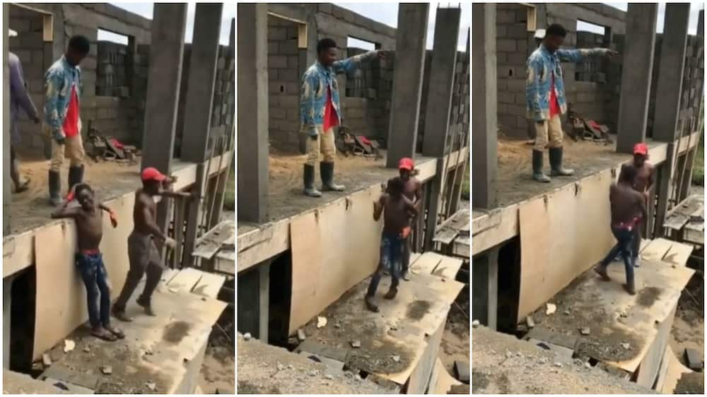 Bricklayers at construction site pause work, dance to Ko Por Ke on uncompleted building in viral video