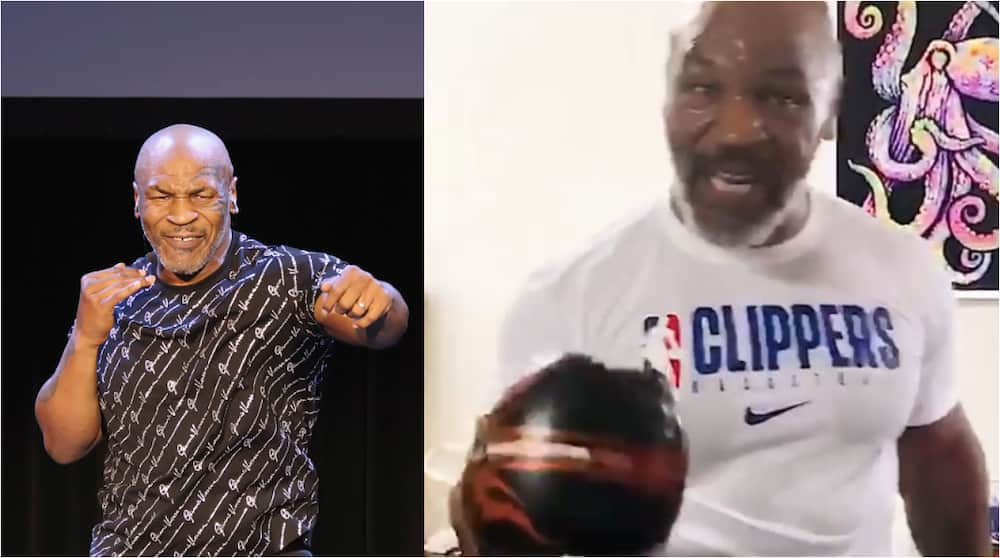 Mike Tyson releases another training clip video showing tremendous speed and power