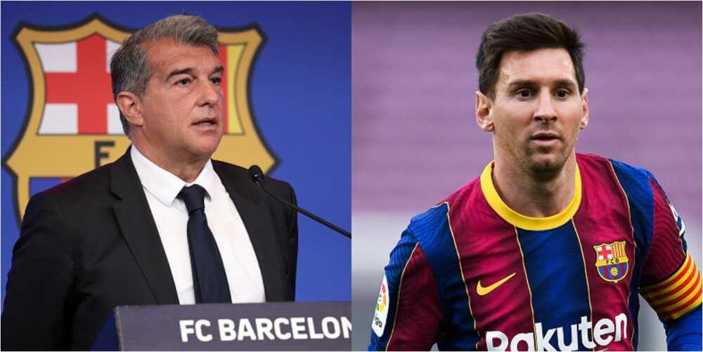 Barcelona president Laporta give massive hint on Messi's future at Camp Nou next season