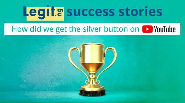 Legit's silver button on youtube