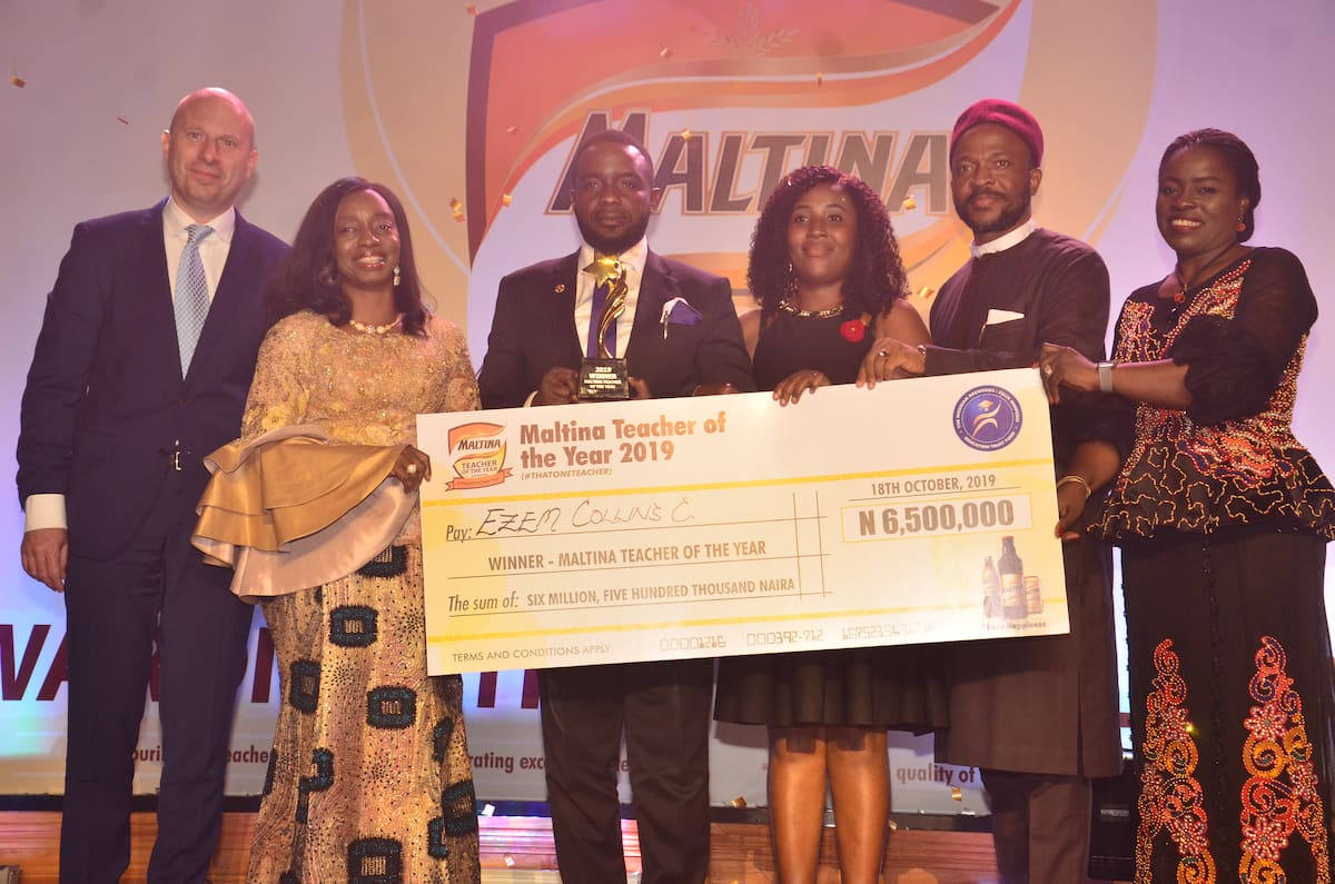 Ezem Collins emerges 2019 Maltina Teacher of the Year - Latest News in Nigeria & Breaking Naija News 24/7 | LEGIT.NG