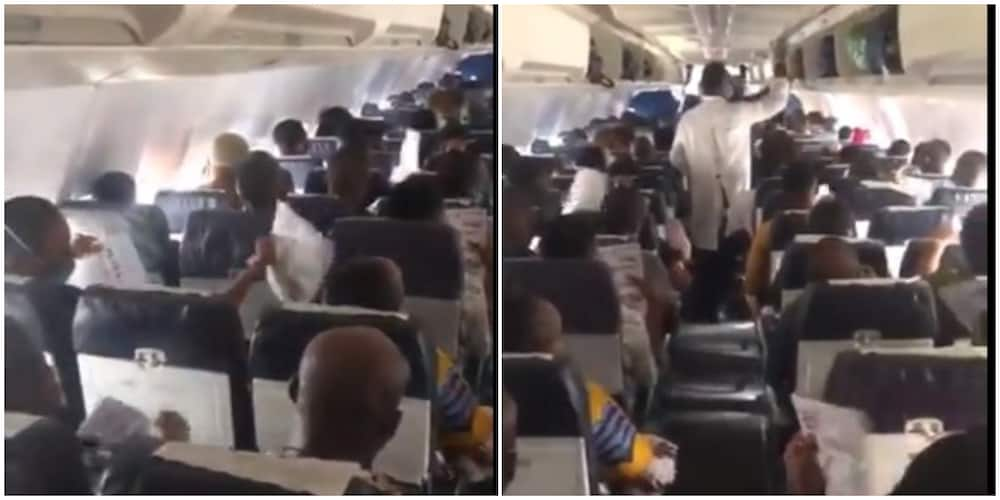 Social Media Reacts to Viral Video of Passengers Fanning Themselves with Papers on a Nigerian Plane