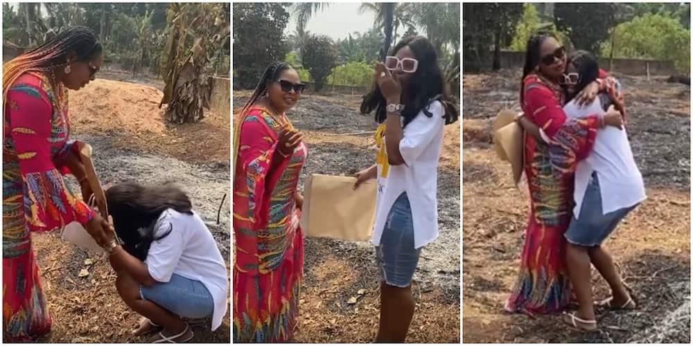 Perfect Christmas gift: BBNaija's Kaisha receives two and a half plot of land from mother
