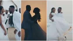 Nigerians react to new video which shows scenes from Adekunle Gold and Simi's wedding
