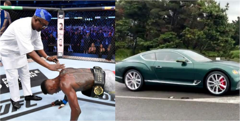 Israel Adesanya gifts dad Bentley Continental GT worth N76m shortly after loss to Blachowicz