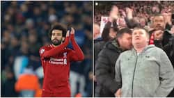 Checkout how a blind Liverpool fan celebrated Salah's winning goal against Napoli (video)