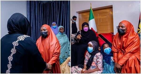 Hotunan ziyarar ta'aziyyar da Aisha Buhari ta kaiwa matar Janar Attahiru suna bayyana