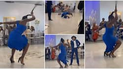 Pretty lady in heels steals show at event with amazing legwork, loosens hair as she dances with waist in video