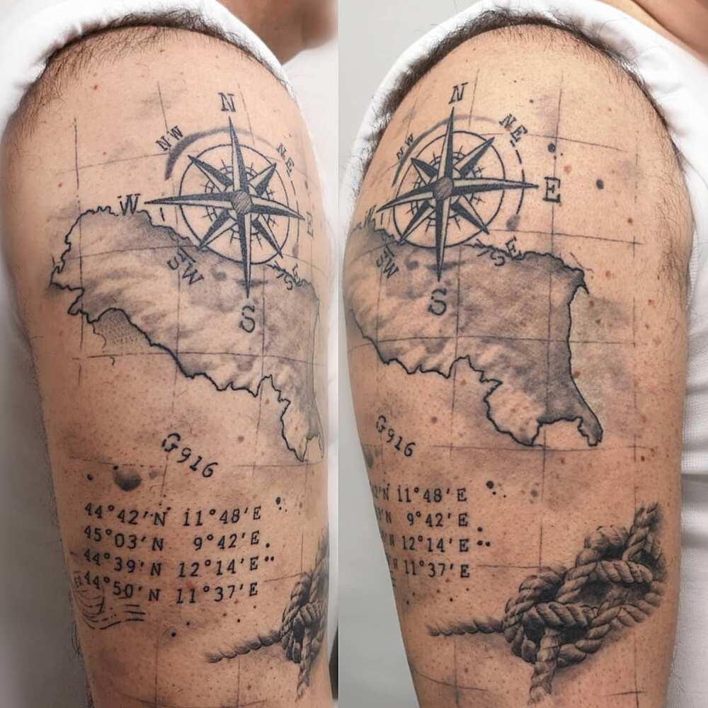 upper arm tattoos for men