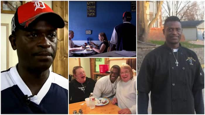 Kind man opens restaurant where people can come in and eat for free, he serves them delicious meals