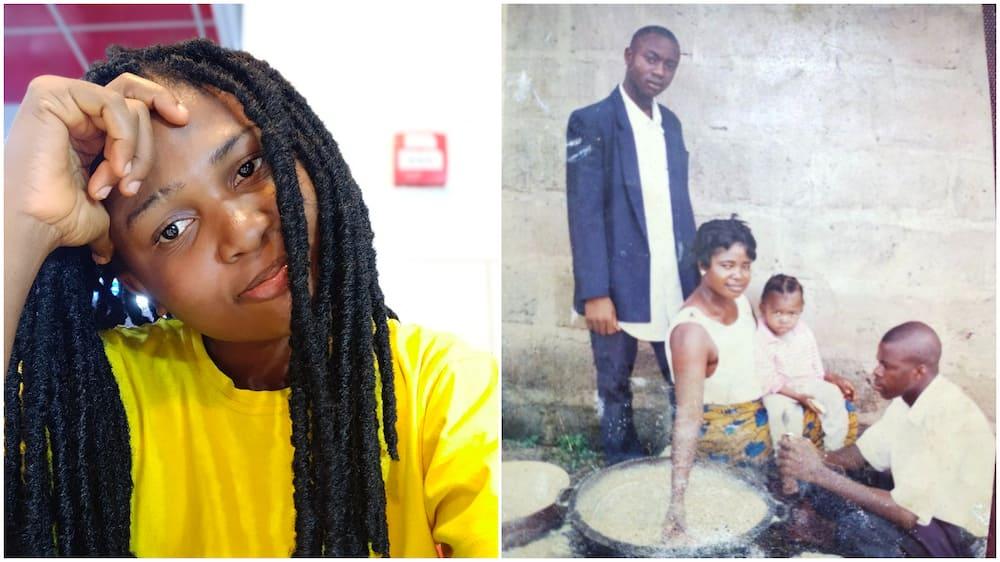Lord, break this chain of poverty - Nigerian lady shares old family photo