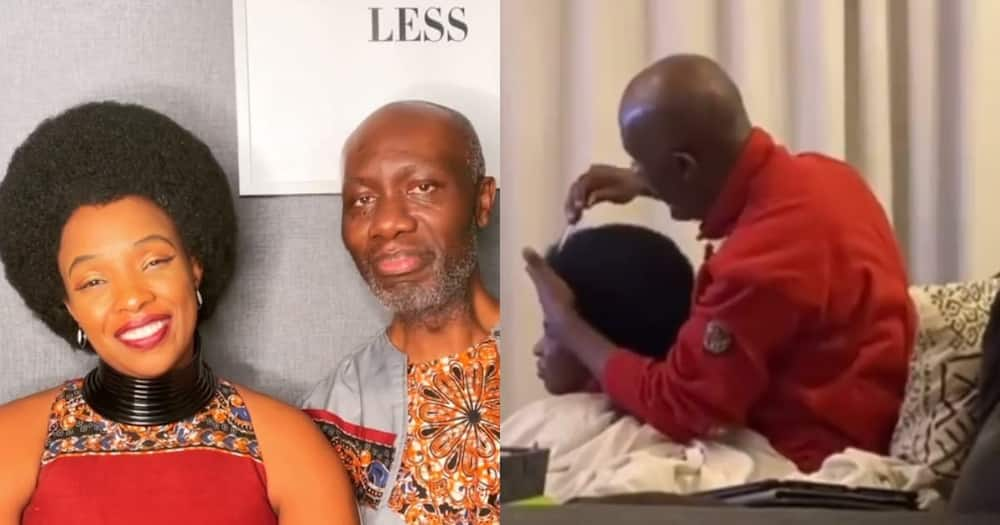 Loving UK husband has faithfully combed wife's glowing afro for 23 years