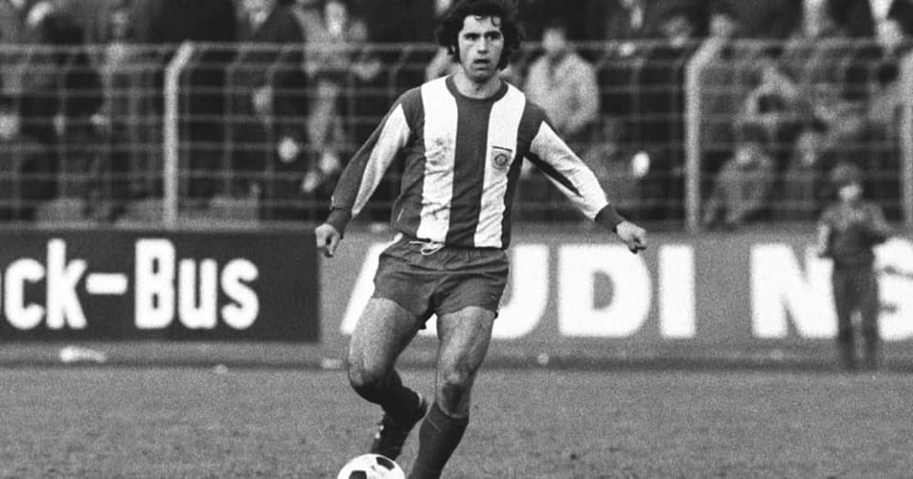 A file photo of Gerd Muller while in action. Photo by Rust/ullstein bild.