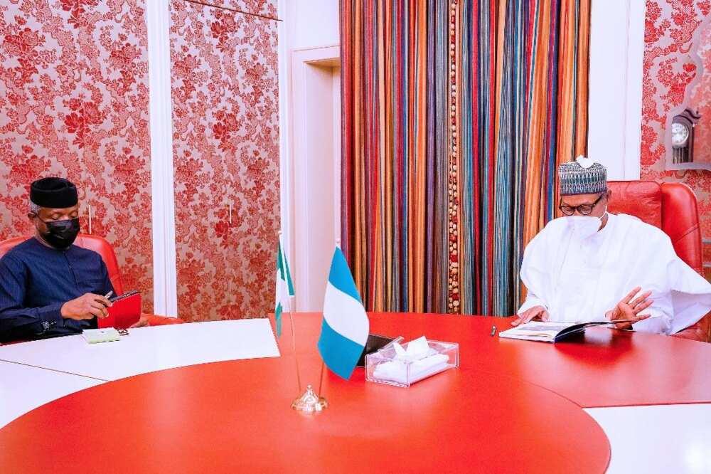 Osinbajo Meets President Buhari at Aso Villa, Briefs Him About Key Issues