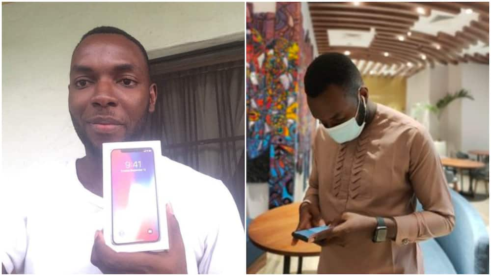 Nigerian man sells expensive iPhone, converts it to capital for his business