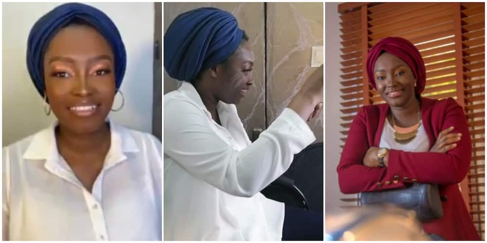 I feel like crying, Atiku's daughter Hauwa says after fixing lashes for the first time