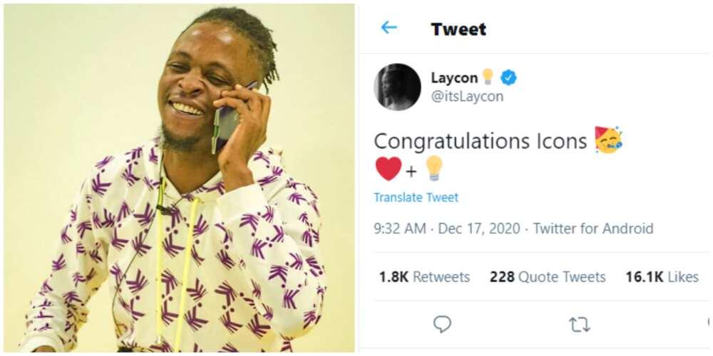 Massive jubilation as BBNaija's Laycon gets verified on Twitter ahead of other Lockdown stars