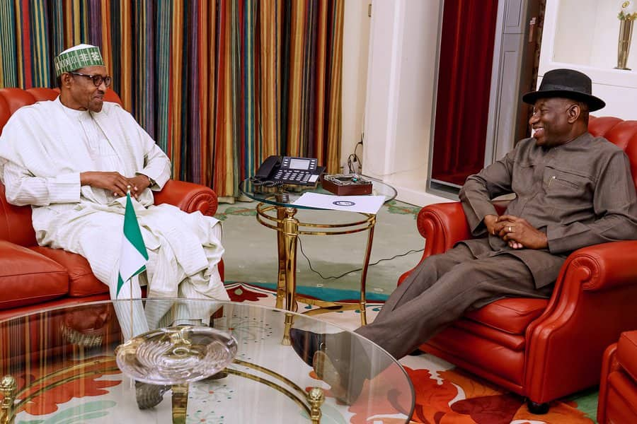 Breaking: Buhari, Jonathan meet in Abuja (photos)