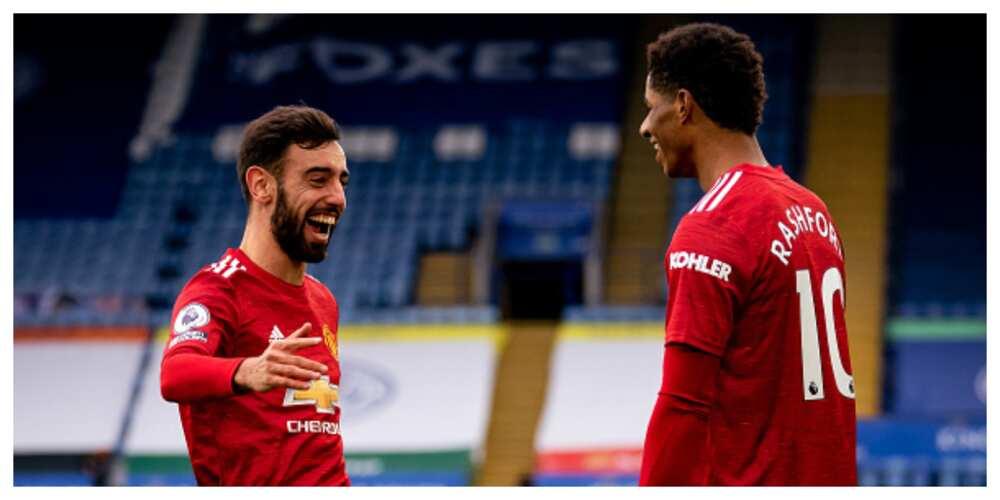 Leicester City vs Man United: Rashford Fernades score in 2-2 draw