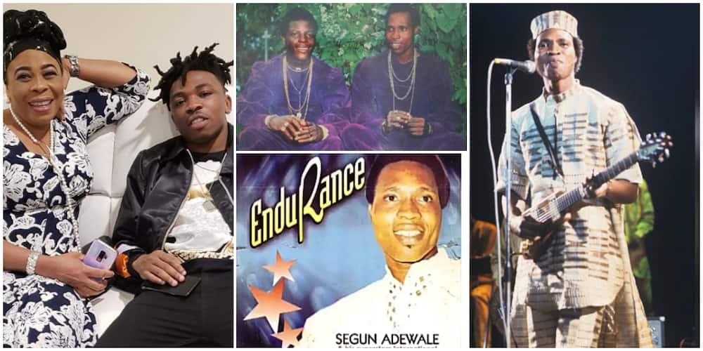 Meet Segun Adewale, Mayorkun's Uncle Who is Also a Musician and Once Had a Group with Shina Peters
