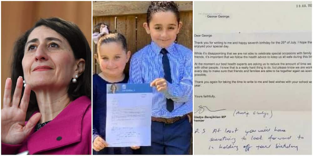 Little boy gets 'sweet' response from female head of government after writing letter to her to complain about not being able to hold birthday party