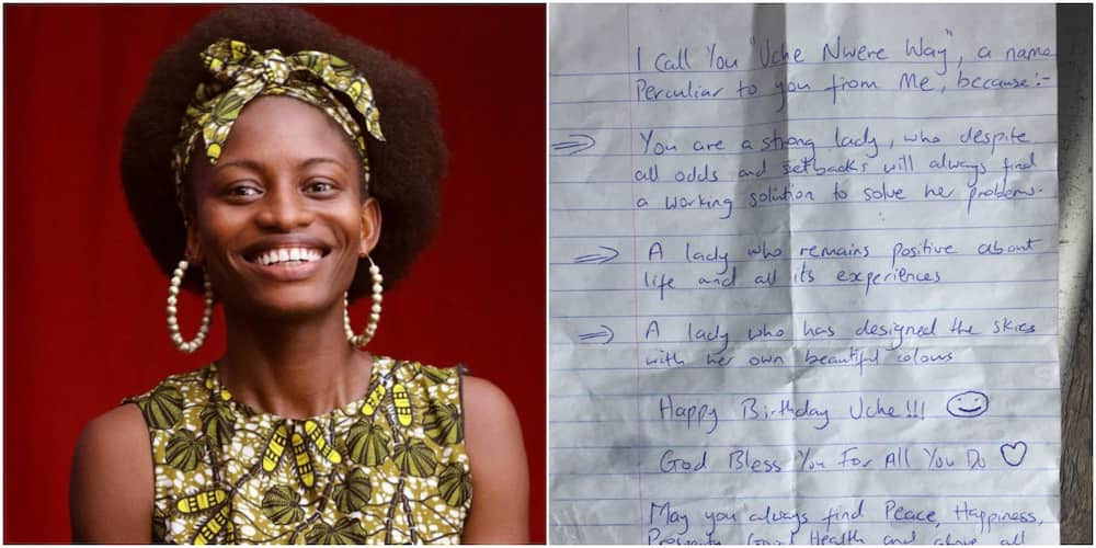 Lady causes stir with the note a lady she had not been on talking terms with sent on her birthday