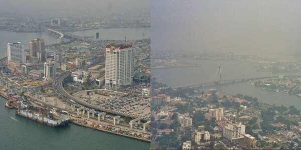 Like Paris like Lagos: Checkout beautiful aerial view pictures of Lagos state taken in Harmattan