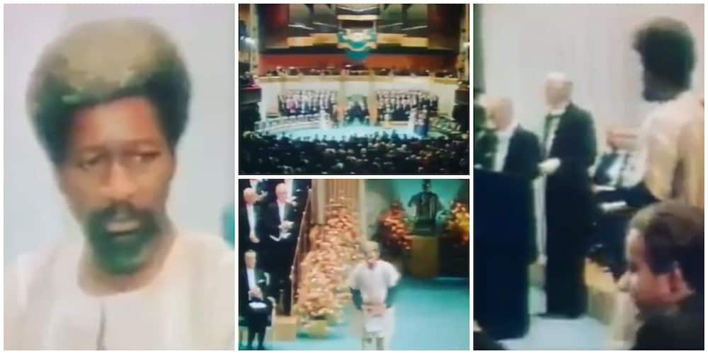 Throwback video: Beautiful moment Wole Soyinka was honoured with the Nobel Prize for Literature in 1986
