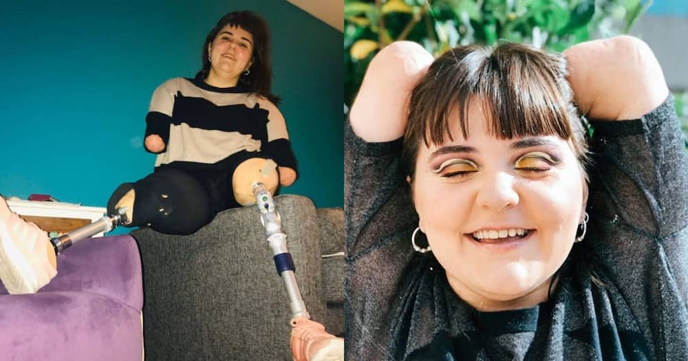 Lady with no arms or legs wows the world with amazing make-up skills