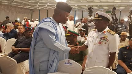 Atiku's camp reacts as service chiefs attend Buhari's campaign launch