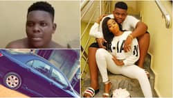 Abeokuta big boy who bought new car and recently celebrated anniversary with lover caught with used sanitary pads (video)