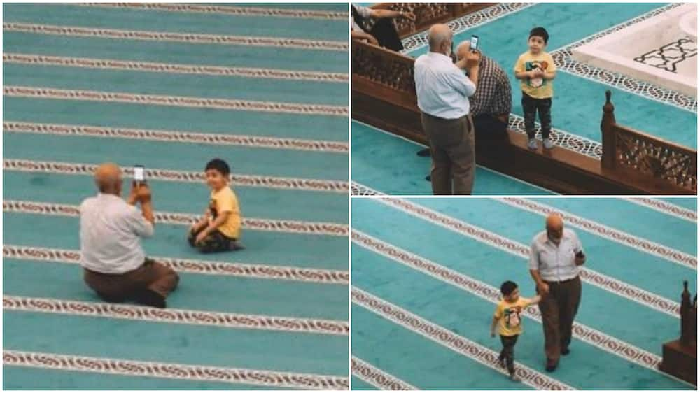 Photos of grandpa spending quality time with his grandkid go viral, stir reactions