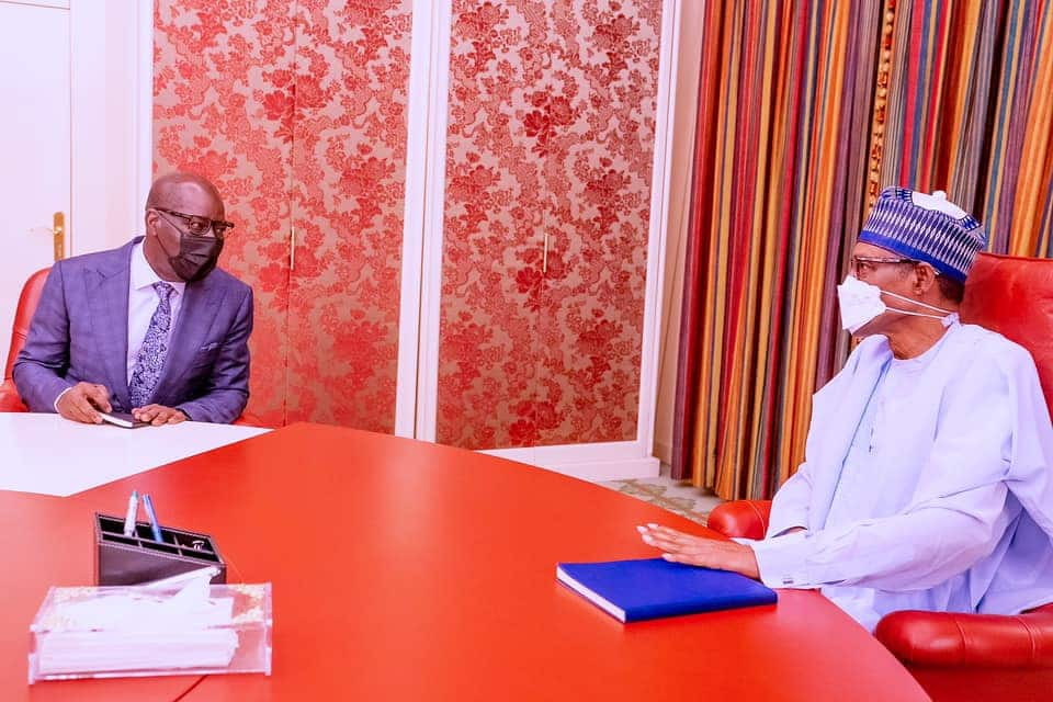 Governor Obaseki Addresses Defection Speculations after Meeting with Buhari