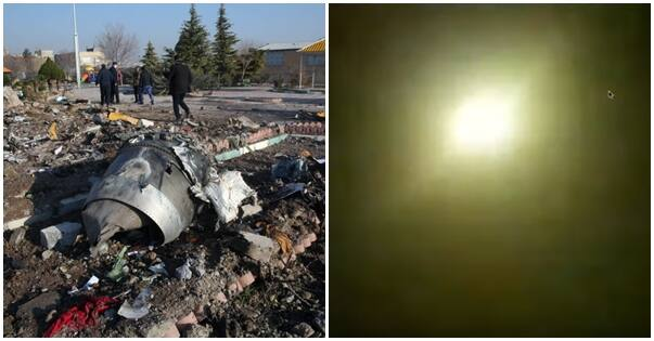 Breaking: New video appears to show moment Ukrainian plane was hit by a missile in Iran