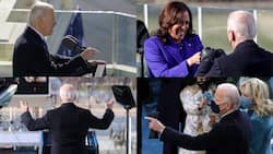 Pictures show Joe Biden appearing to wear bulletproof vest during inauguration