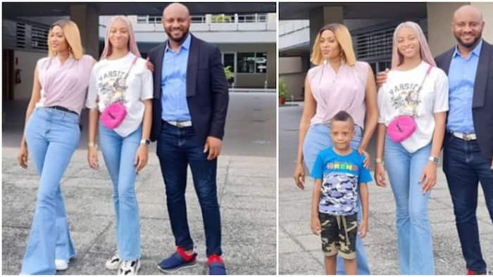Proud dad: Actor Yul Edochie shares photos as he drops daughter off on first day at university