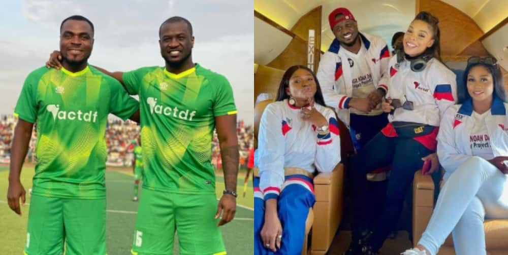 Peter Okoye leads team to victory as Nigerian/African football legends clash against entertainers in Bauchi