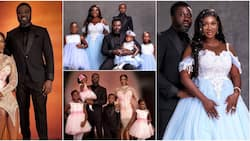 10 years without drama: 4 gorgeous outfits of Mercy Johnson's family as they celebrate wedding anniversary
