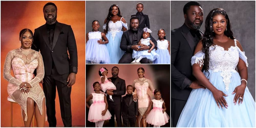 Mercy Johnson and her family