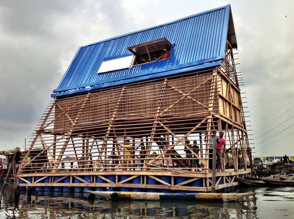 Makoko Floating School: Nigerian architect Kunle Adeyemi constructs floating buildings on water