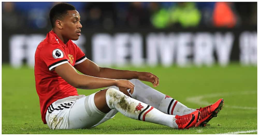 Anthony Martial cuts a dejected face during a past match. Photo: Getty Images.