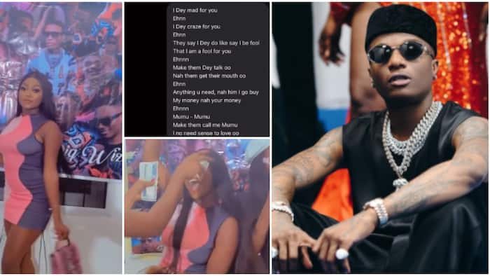 Mumu for you: Lady who almost fainted on sighting Wizkid begs him to notice her, celebrates his birthday